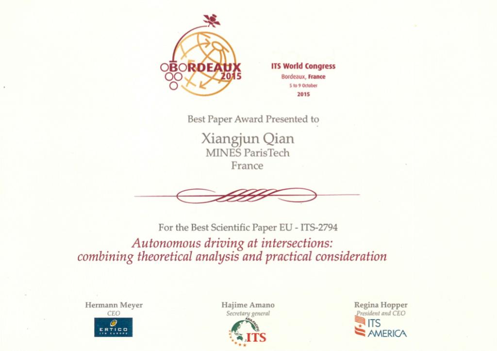 drive4u-COM-Best paper award